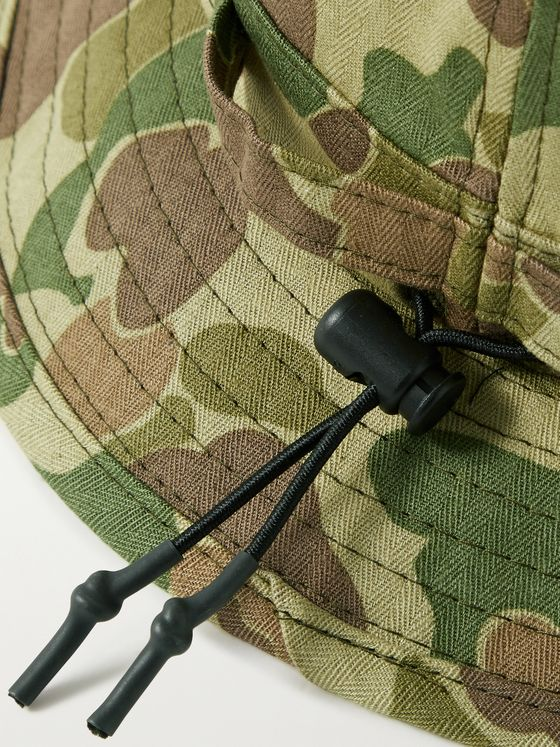 BEAMS PLUS Camouflage-Print Cotton-Herringbone Bucket Hat