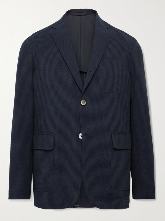 BEAMS PLUS Unstructured Seersucker Blazer