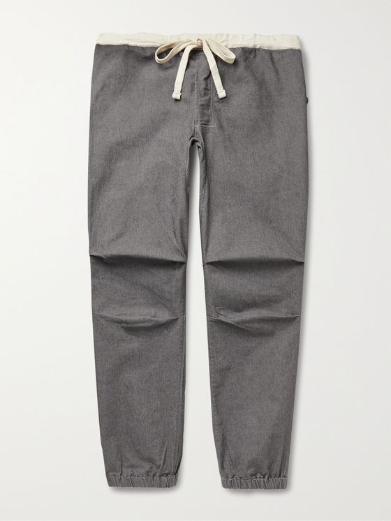 BEAMS PLUS Gym Tapered Stretch Cotton-Blend Twill Drawstring Trousers