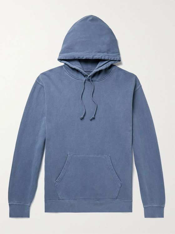 BEAMS PLUS Pigment-Dyed Loopback Cotton-Jersey Hoodie
