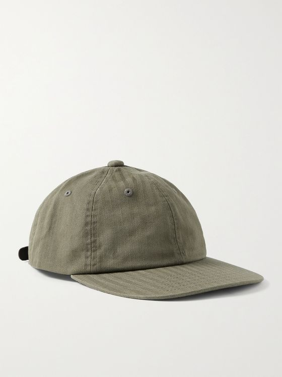 BEAMS PLUS Herringbone Cotton Baseball Cap