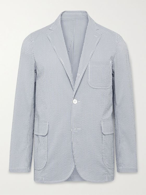 BEAMS PLUS Unstructured Striped COOLMAX Seersucker Blazer