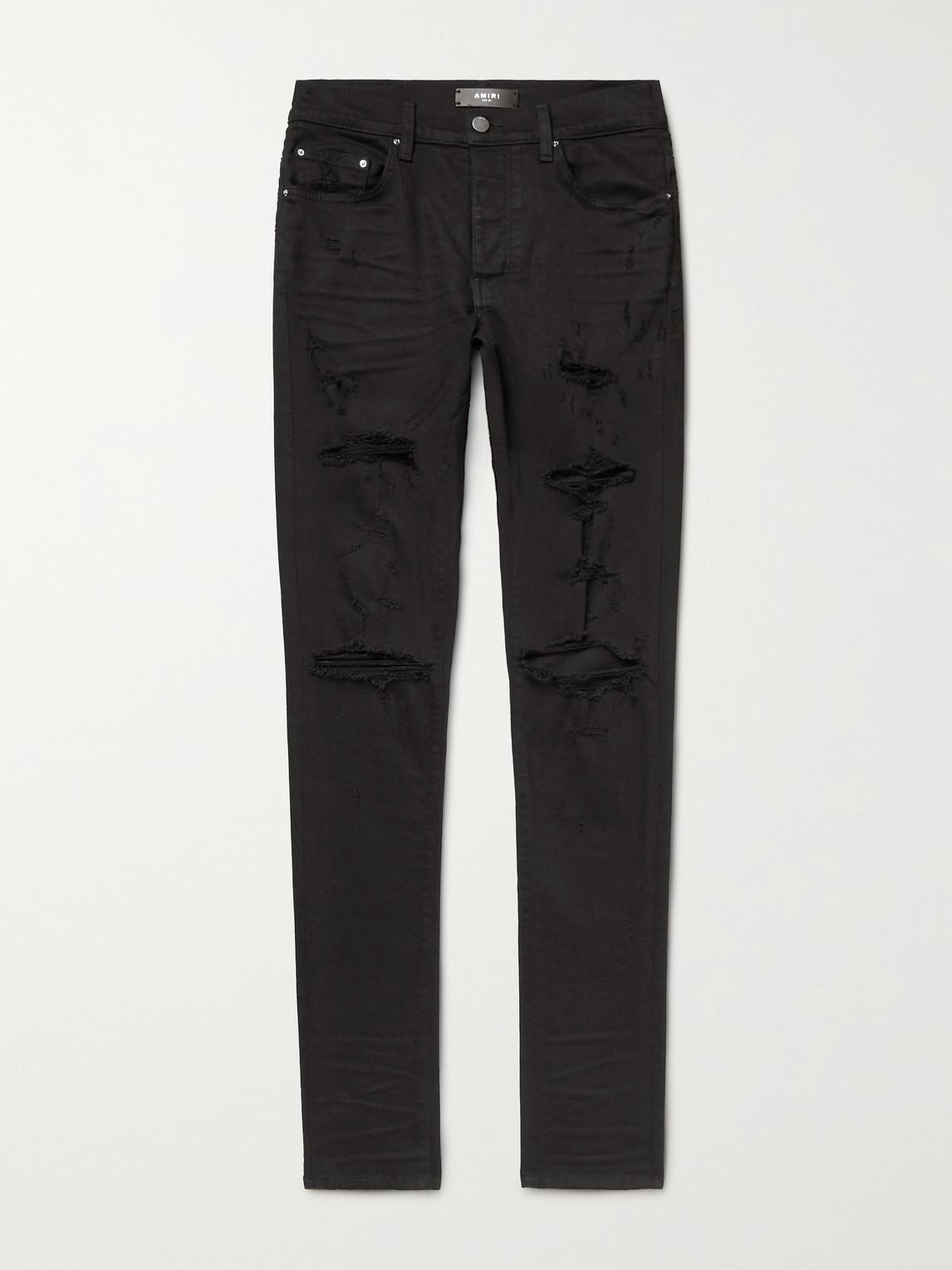 Thrasher Plus Skinny-Fit Distressed Stretch-Denim Jeans