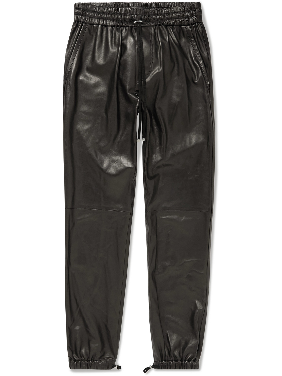 Tapered Leather Sweatpants