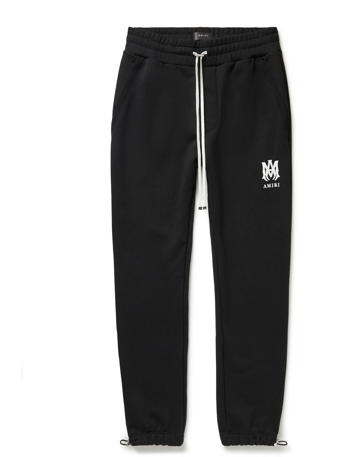 Tapered Logo-Print Cotton-Jersey Sweatpants