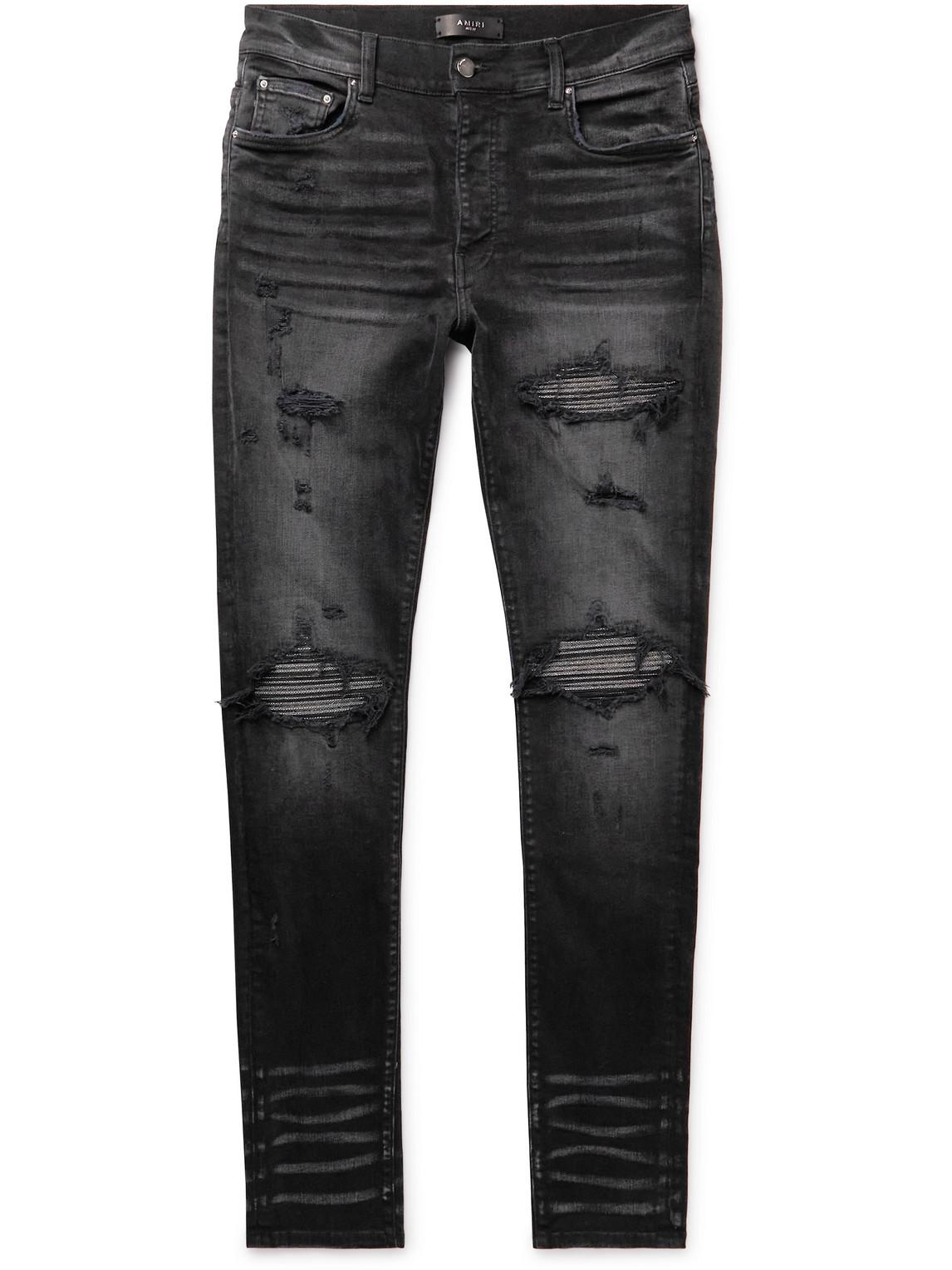MX1 Skinny-Fit Distressed Stretch-Denim Jeans