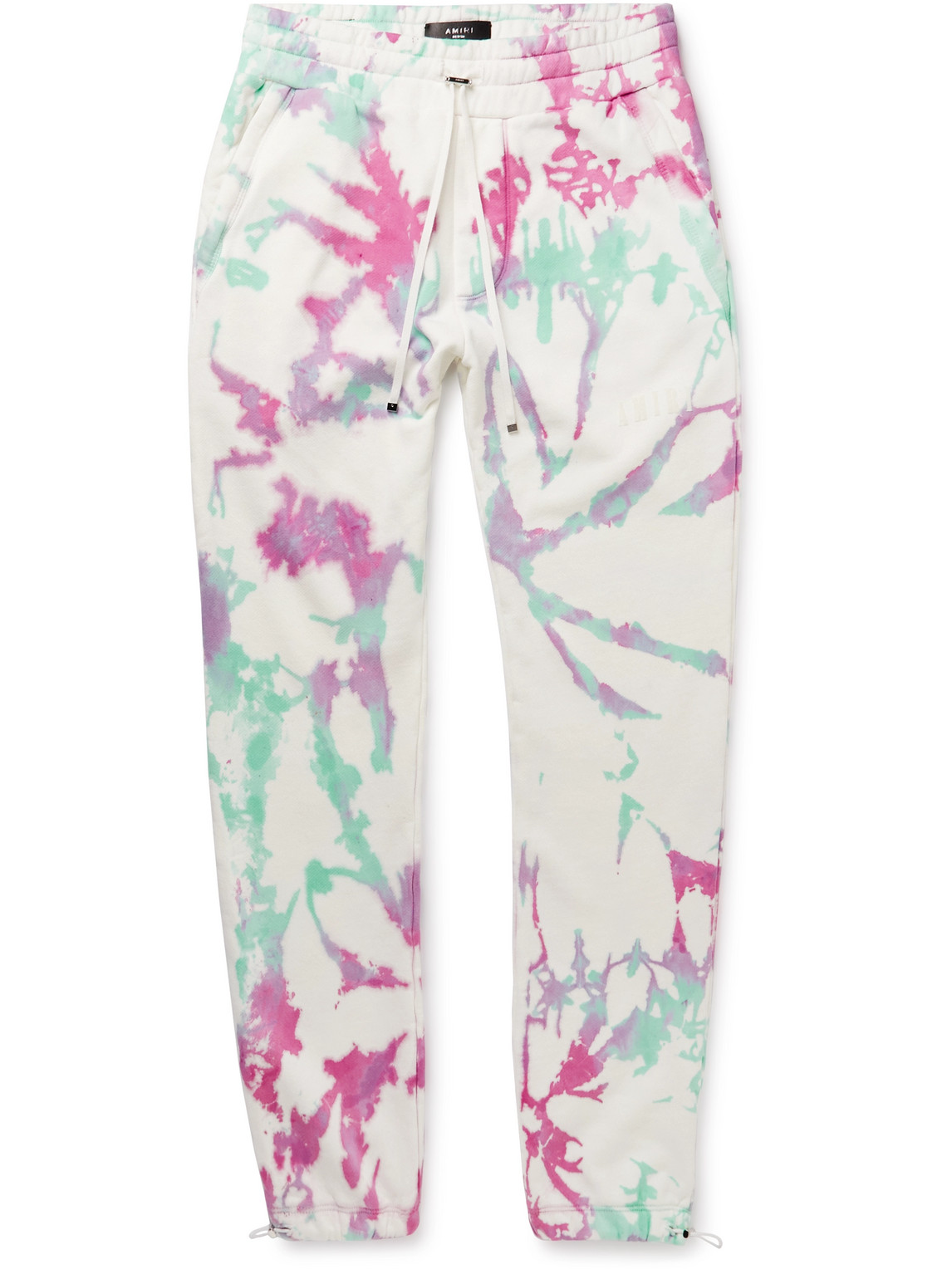 Slim-Fit Tapered Tie-Dyed Cotton-Jersey Drawstring Sweatpants