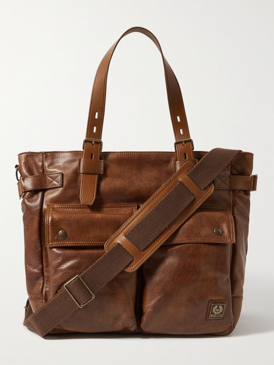 BELSTAFF Touring Full-Grain Leather Tote Bag
