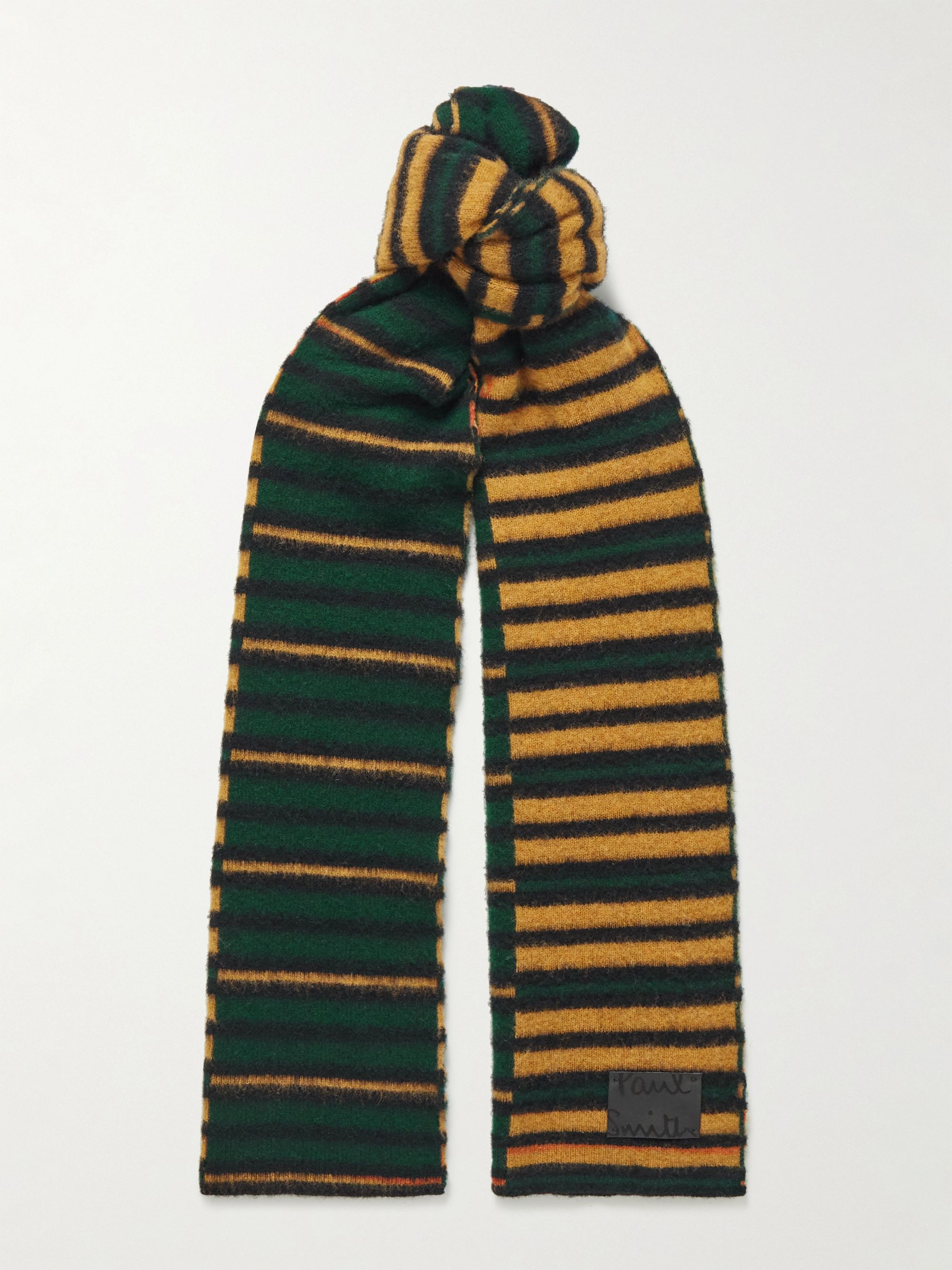 폴 스미스 스카프 Paul Smith Striped Wool Scarf,Green