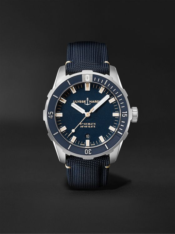 ULYSSE NARDIN Diver Automatic 42mm Stainless Steel and Webbing Watch, Ref. No. 8163-175/93
