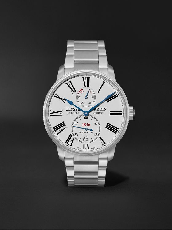 ULYSSE NARDIN Marine Torpilleur Automatic 42mm Stainless Steel Watch, Ref. No. 1183-310-7M/40