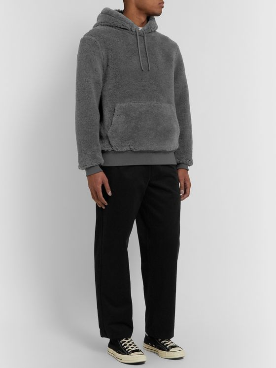 Noah + Loro Piana Virgin Wool and Silk-Blend Fleece Hoodie