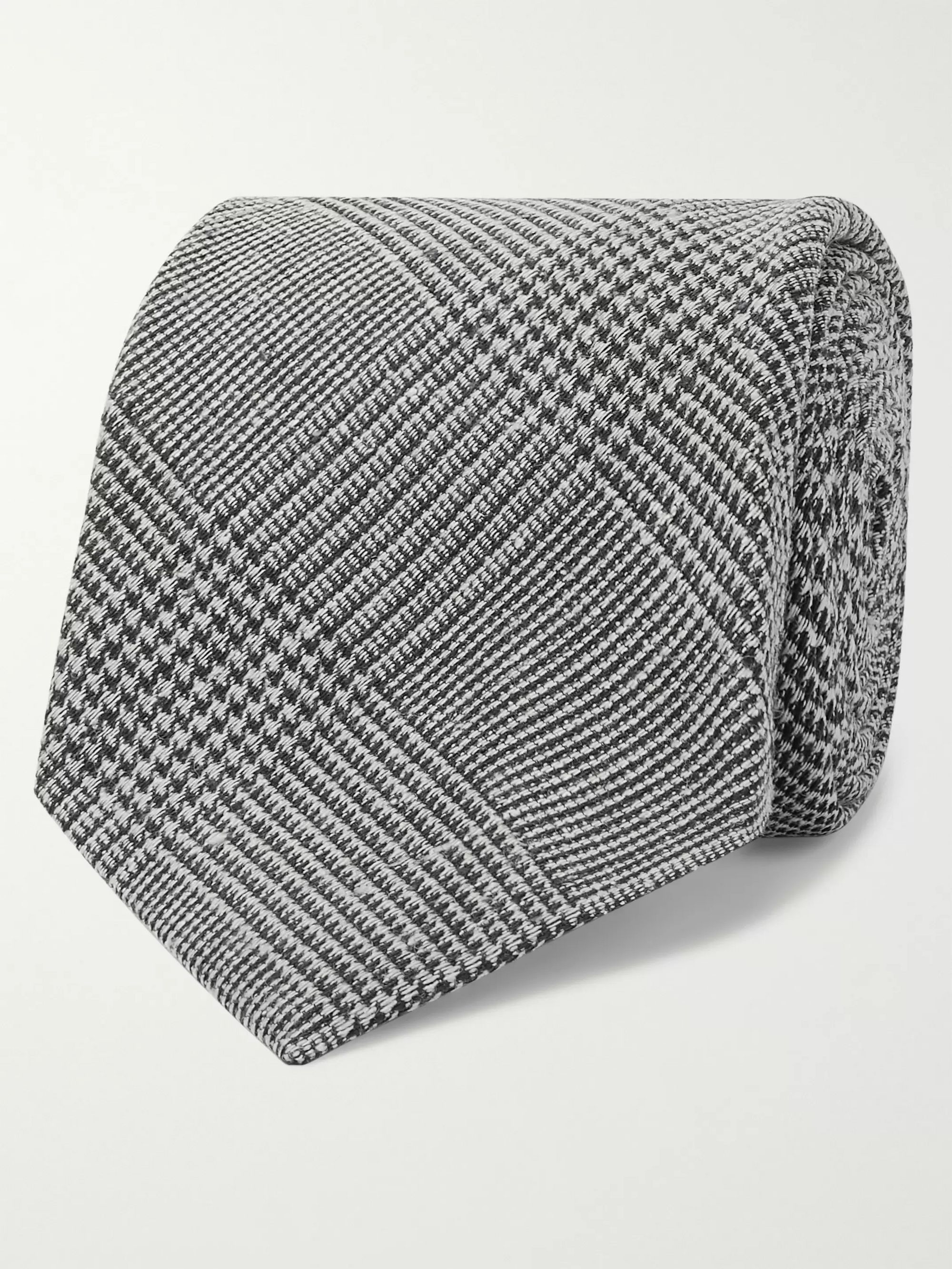 Kingsman + Drake's 8cm Prince of Wales Checked Silk and Wool-Blend Tie