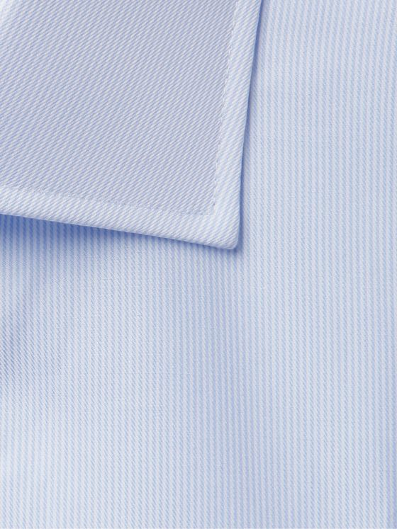 Kingsman + Turnbull & Asser Blue Striped Cotton-Twill Shirt