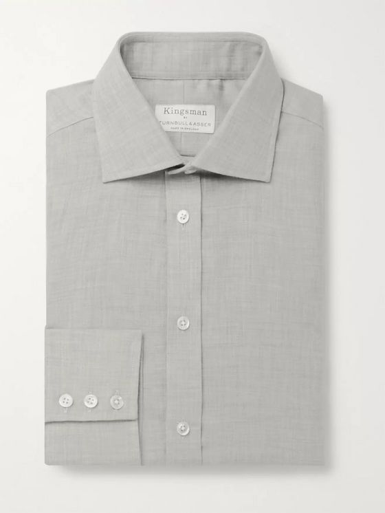 Kingsman + Turnbull & Asser Cotton and Cashmere-Blend Shirt