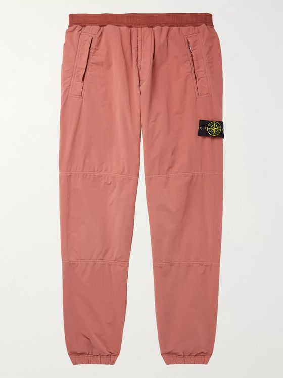 Stone Island Logo-Appliquéd Garment-Dyed Fleece-Back David-TC Sweatpants