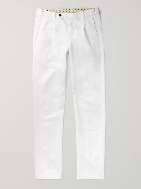 Massimo Alba Ionio 2 Garment-Dyed Cotton-Gabardine Trousers