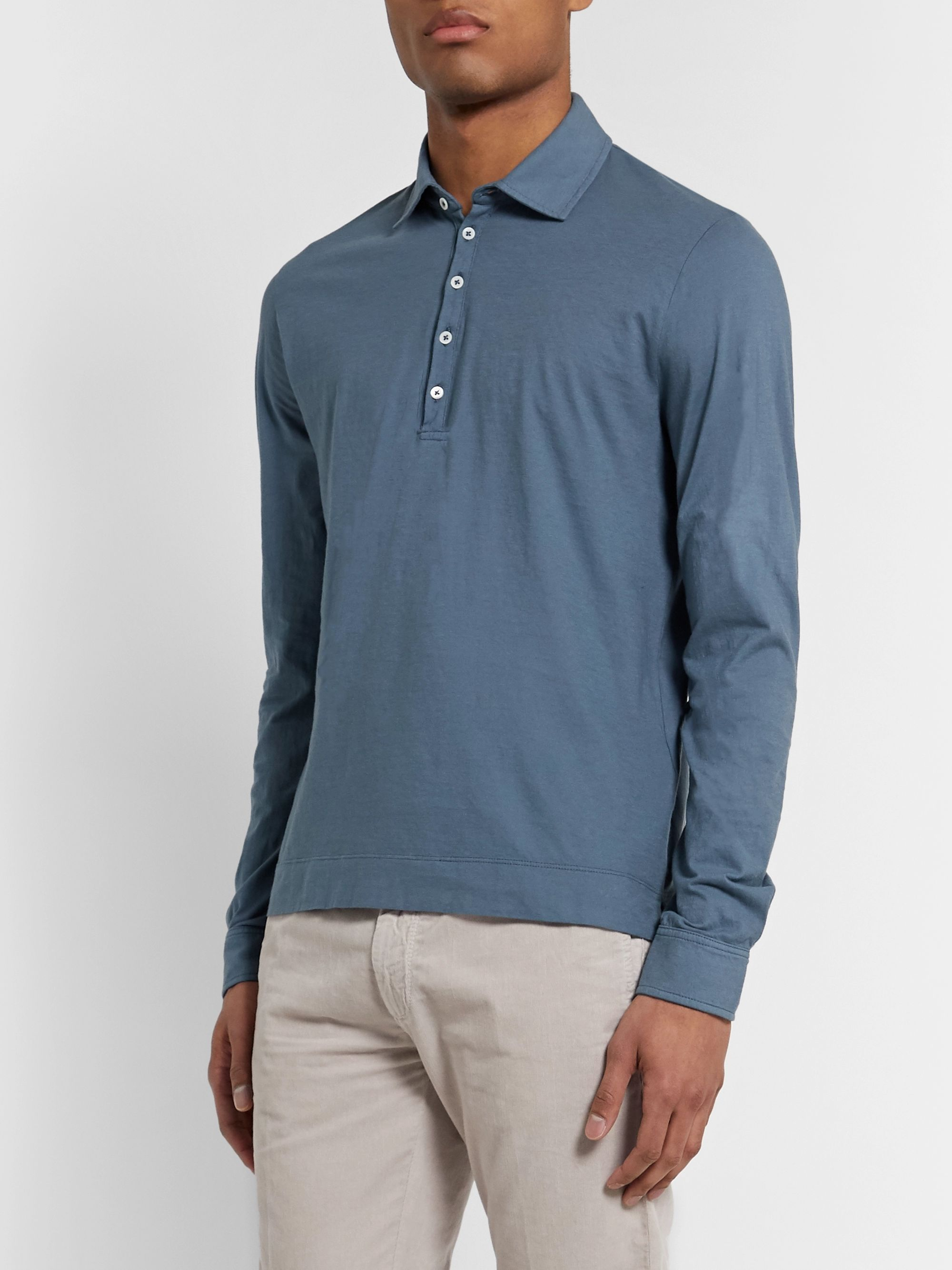 Massimo Alba Ischia Cotton-Jersey Polo Shirt