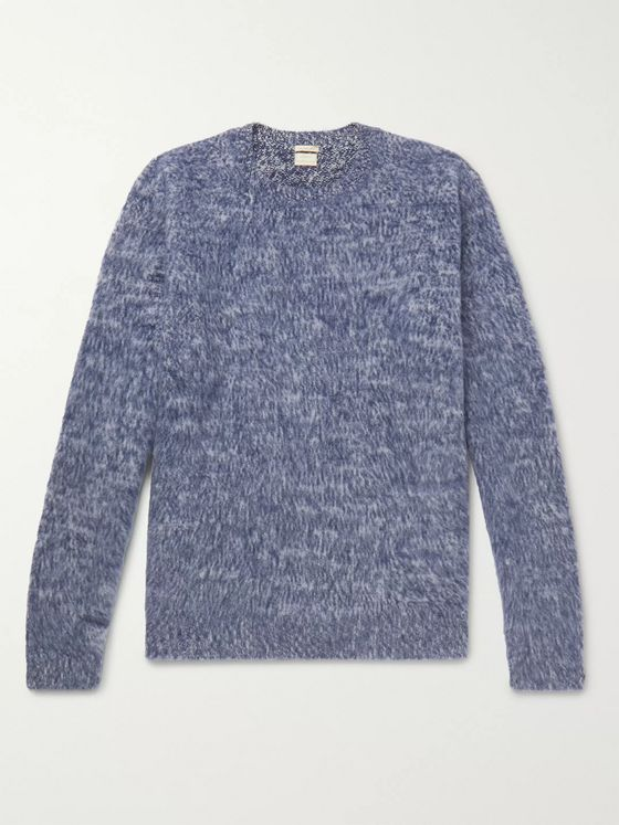 Massimo Alba Neil Mélange Brushed-Cashmere Sweater