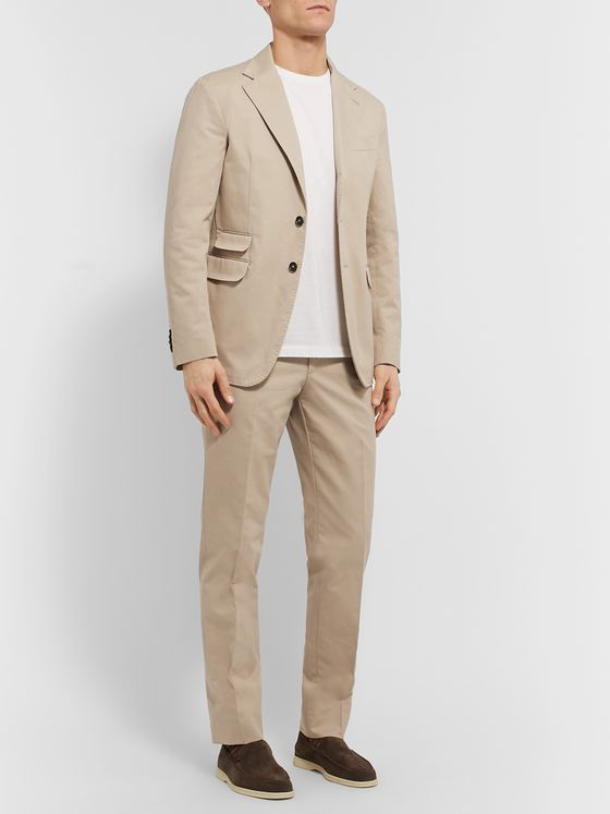 Massimo Alba Unstructured Cotton-Twill Suit