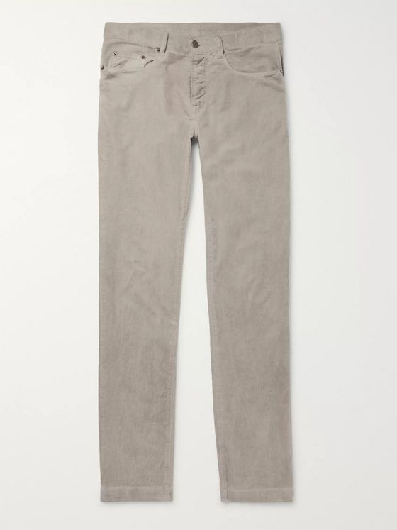 Massimo Alba Watercolour-Dyed Cotton-Corduroy Trousers