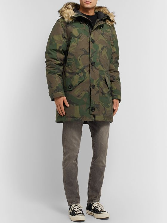 Polo Ralph Lauren Camouflage-Print Shell Hooded Down Parka
