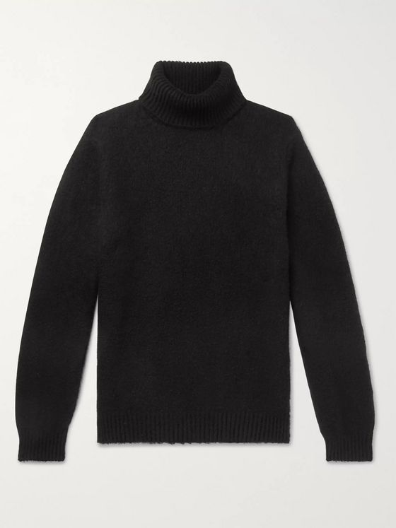 Massimo Alba Milton Brushed-Cashmere Rollneck Sweater