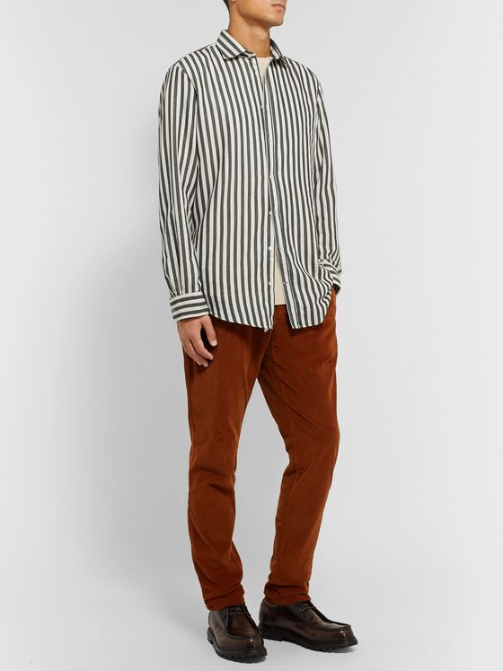 Massimo Alba Canary Striped Cotton-Twill Shirt
