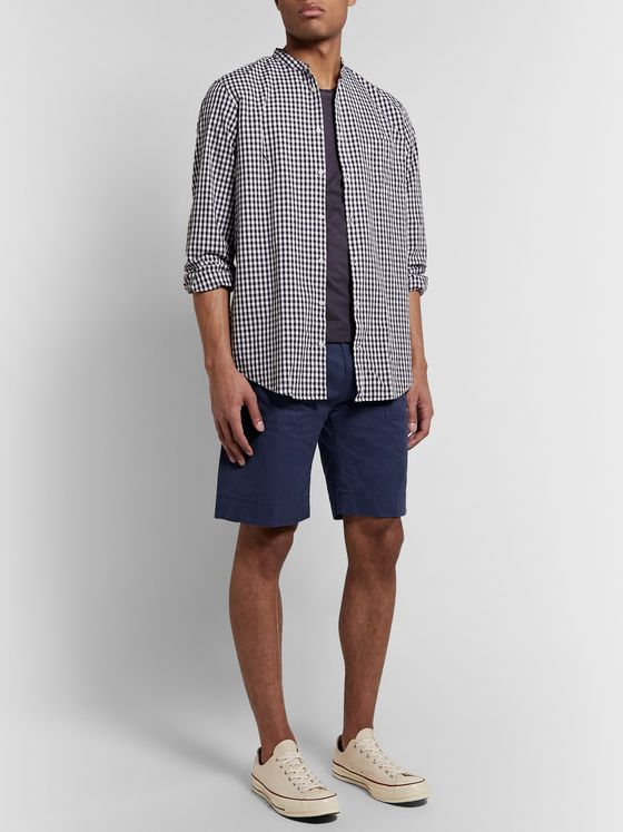 Massimo Alba Regata Pleated Garment-Dyed Cotton Shorts