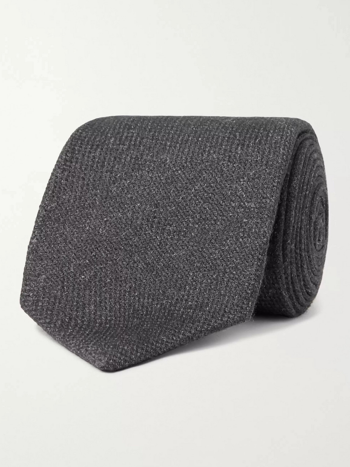 Kingsman Drake's 9cm Wool, Silk And Cashmere-blend Tie In Gray