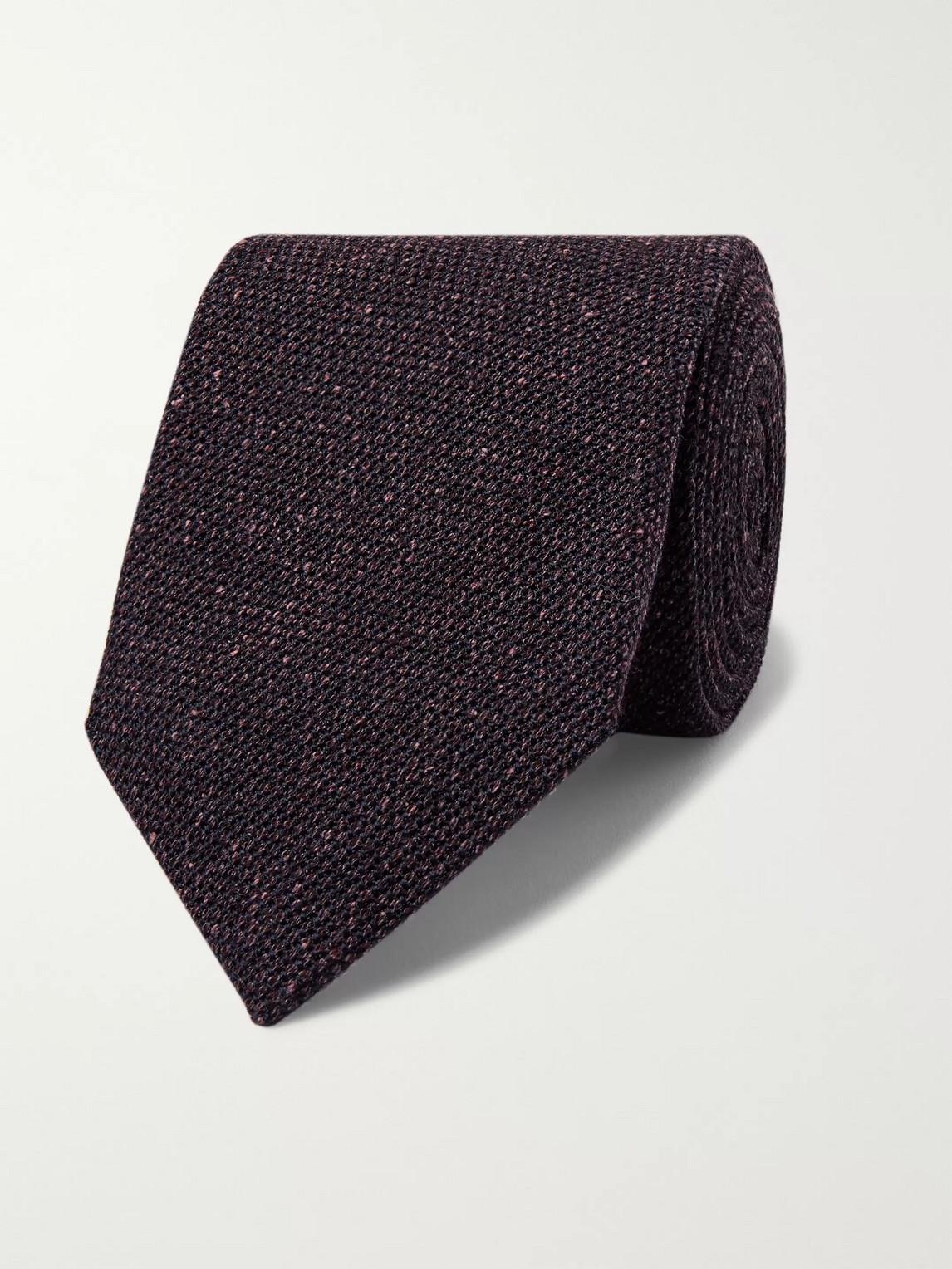 Kingsman Drake's 8cm Silk And Wool-blend Tie In Brown
