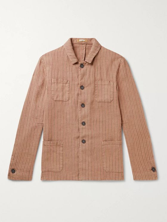 Massimo Alba Striped Linen Jacket