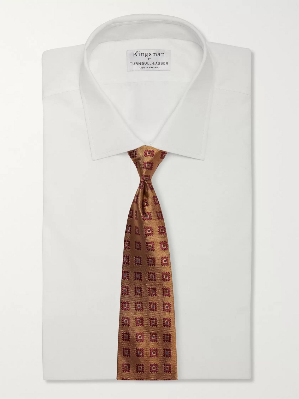 Kingsman Drake's 8cm Silk-jacquard Tie In Brown