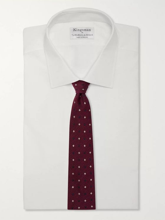 KINGSMAN + Drake's 7.5cm Embroidered Wool and Silk-Blend Tie