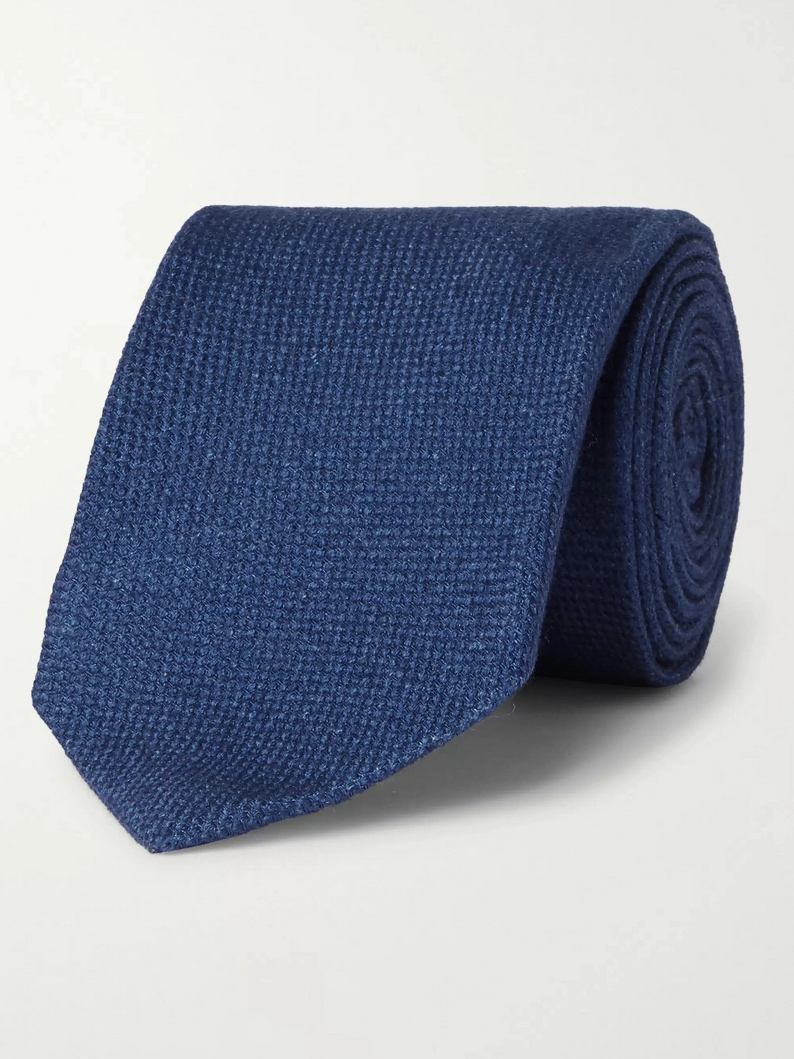 Kingsman Drake's 9cm Wool, Silk And Cashmere-blend Tie In Blue