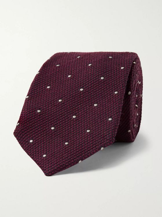 Kingsman + Drake's 8cm Polka-Dot Wool and Silk-Blend Tie