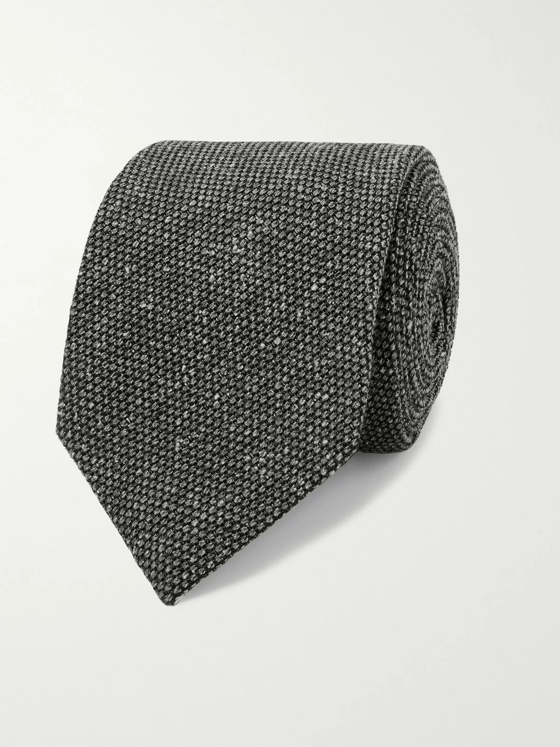 Kingsman Drake's 8cm Silk And Wool-blend Tie In Gray