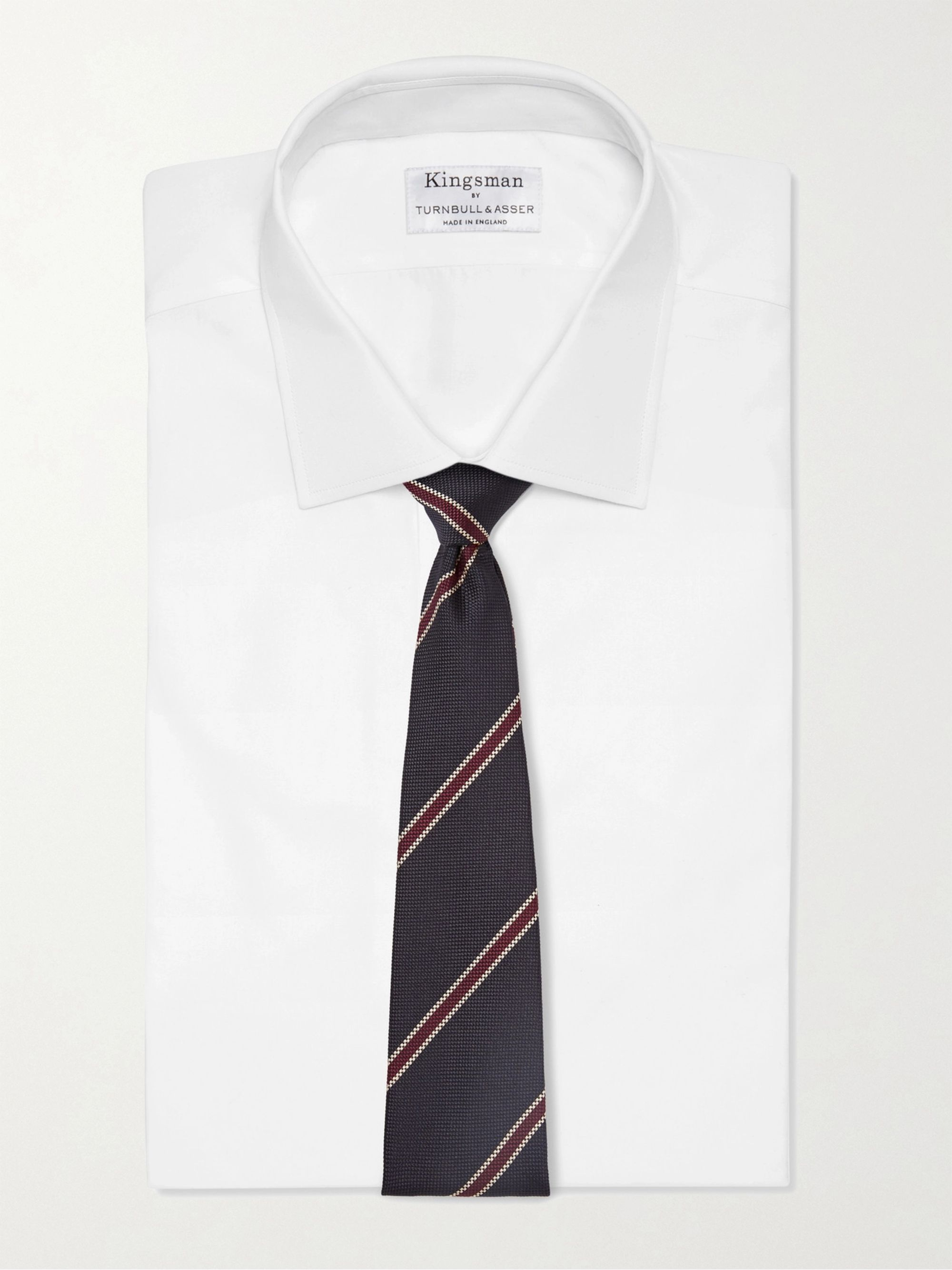Kingsman + Drake's 8cm Striped Silk-Jacquard Tie