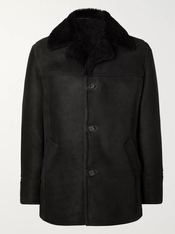 Kingsman Shearling Aviator Jacket
