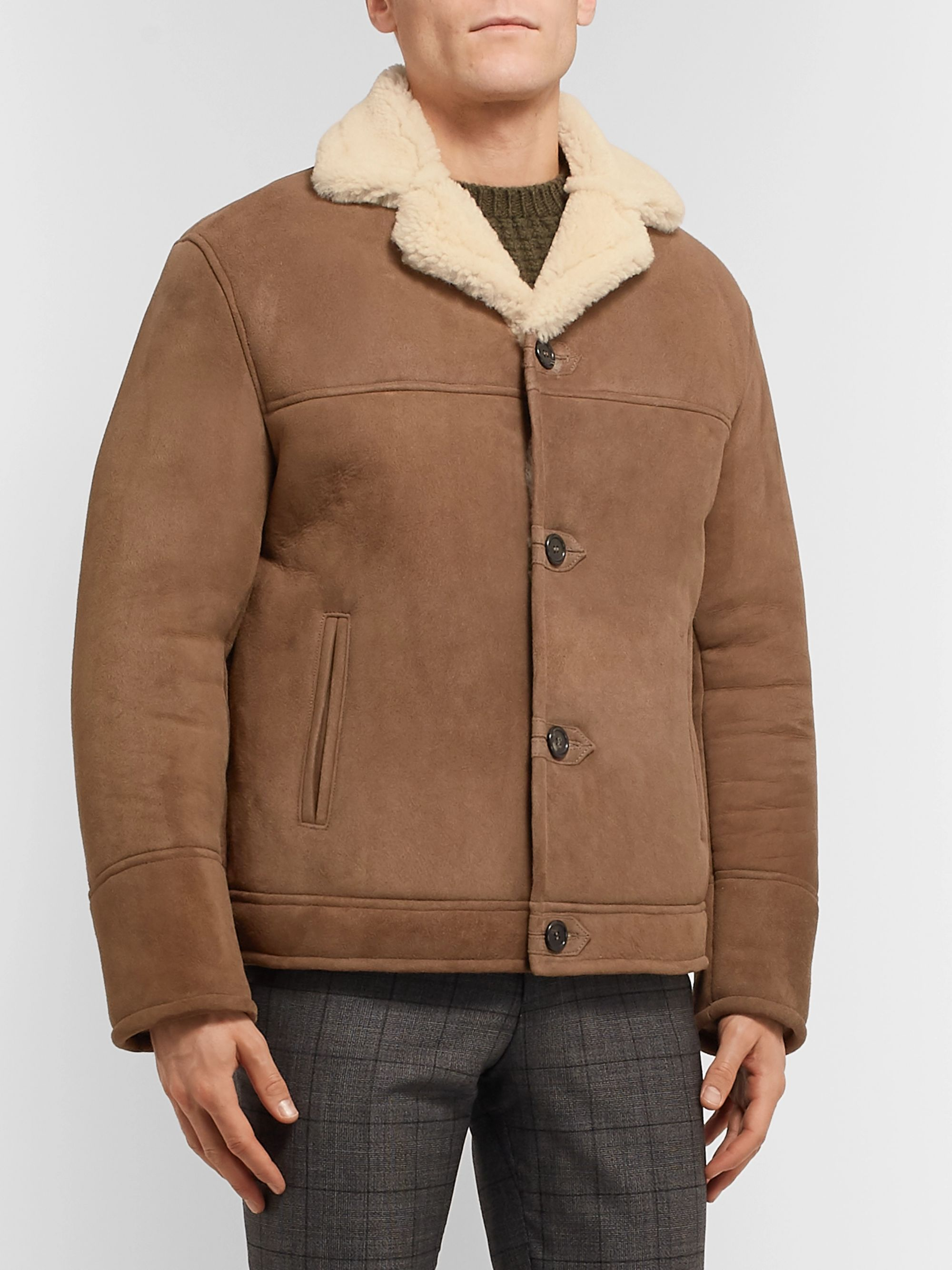Kingsman Shearling Bomber Jacket