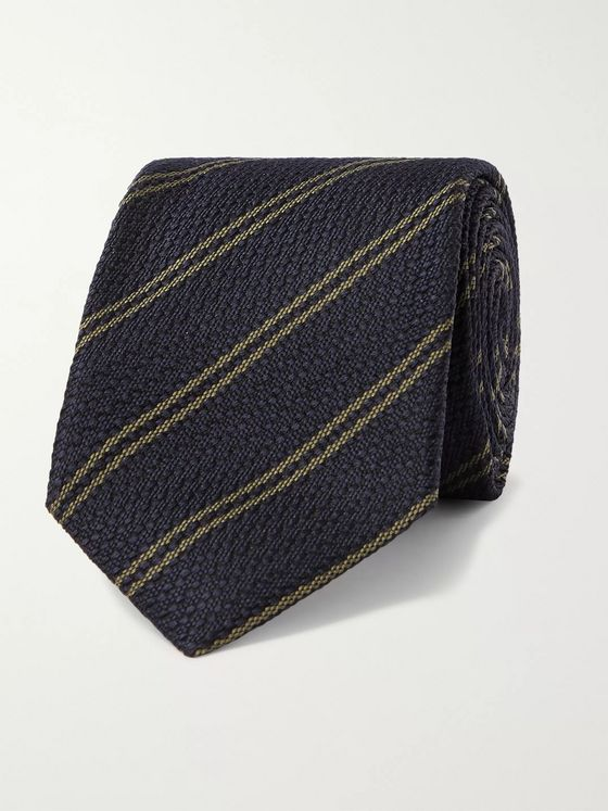 Kingsman + Drake's 8cm Striped Silk Tie