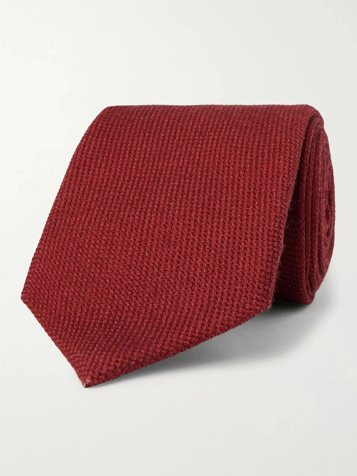 Kingsman Drake's 9cm Wool, Silk And Cashmere-blend Tie In Burgundy