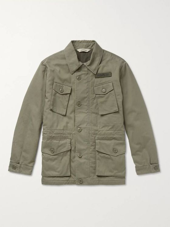 Aspesi Padded Cotton-Twill Field Jacket