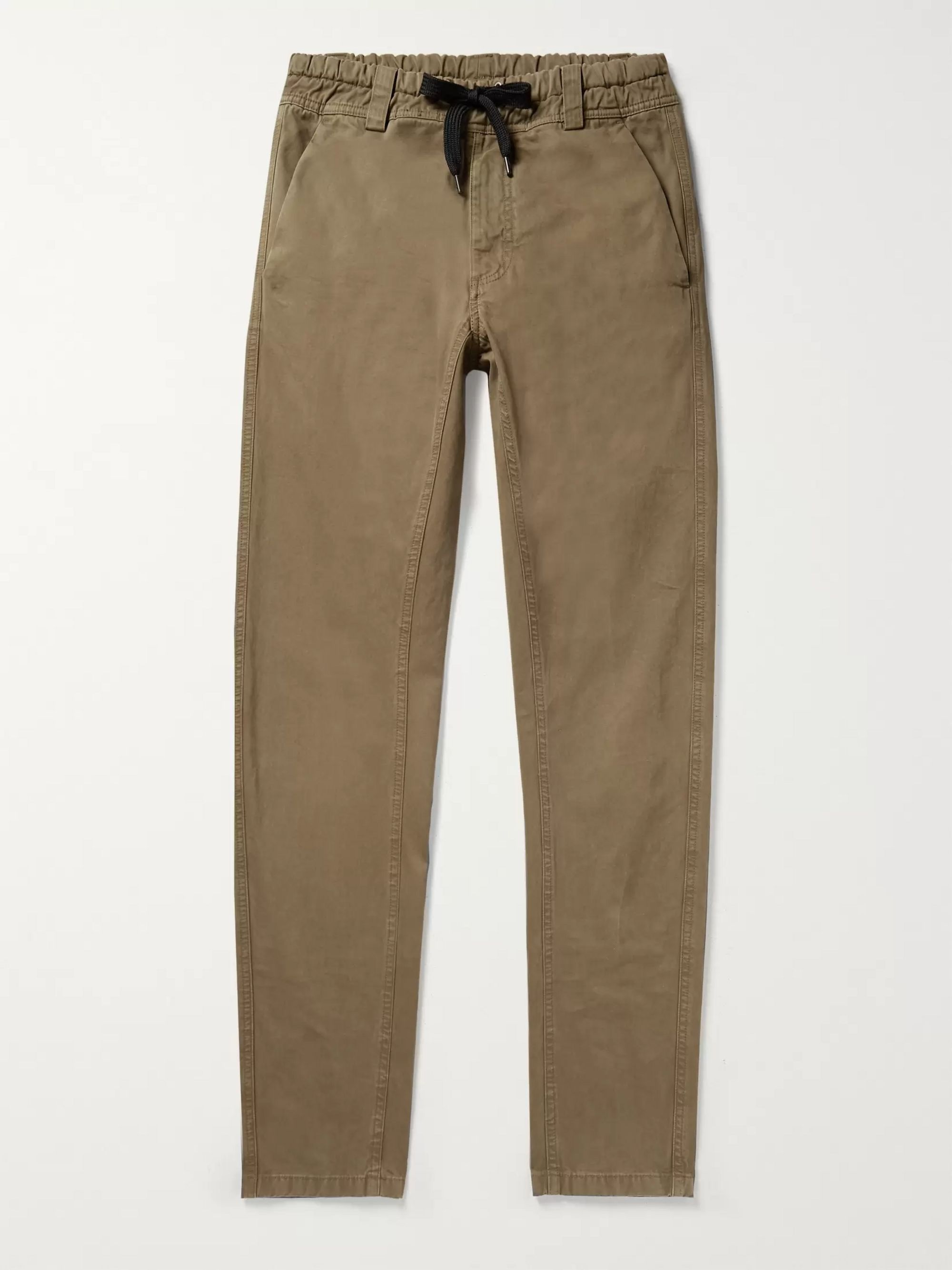 Aspesi Slim-Fit Cotton-Twill Drawstring Trousers