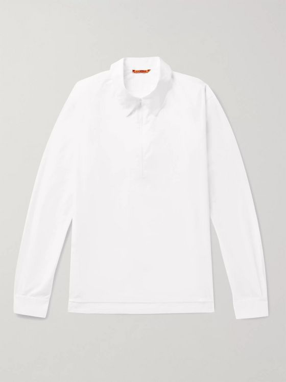 Barena Cotton-Poplin Half-Zip Shirt