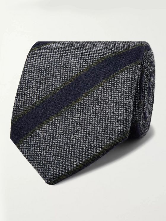 Kingsman + Drake's 8cm Striped Wool Tie