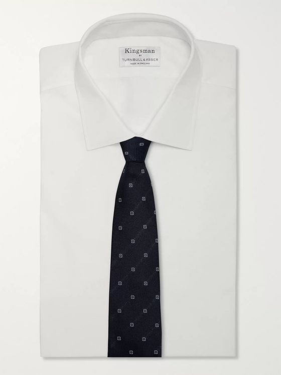 KINGSMAN + Drake's 8cm Embroidered Silk-Jacquard Tie