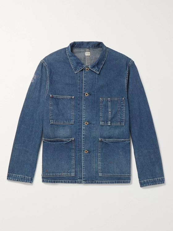 Chimala Distressed Selvedge Denim Chore Jacket