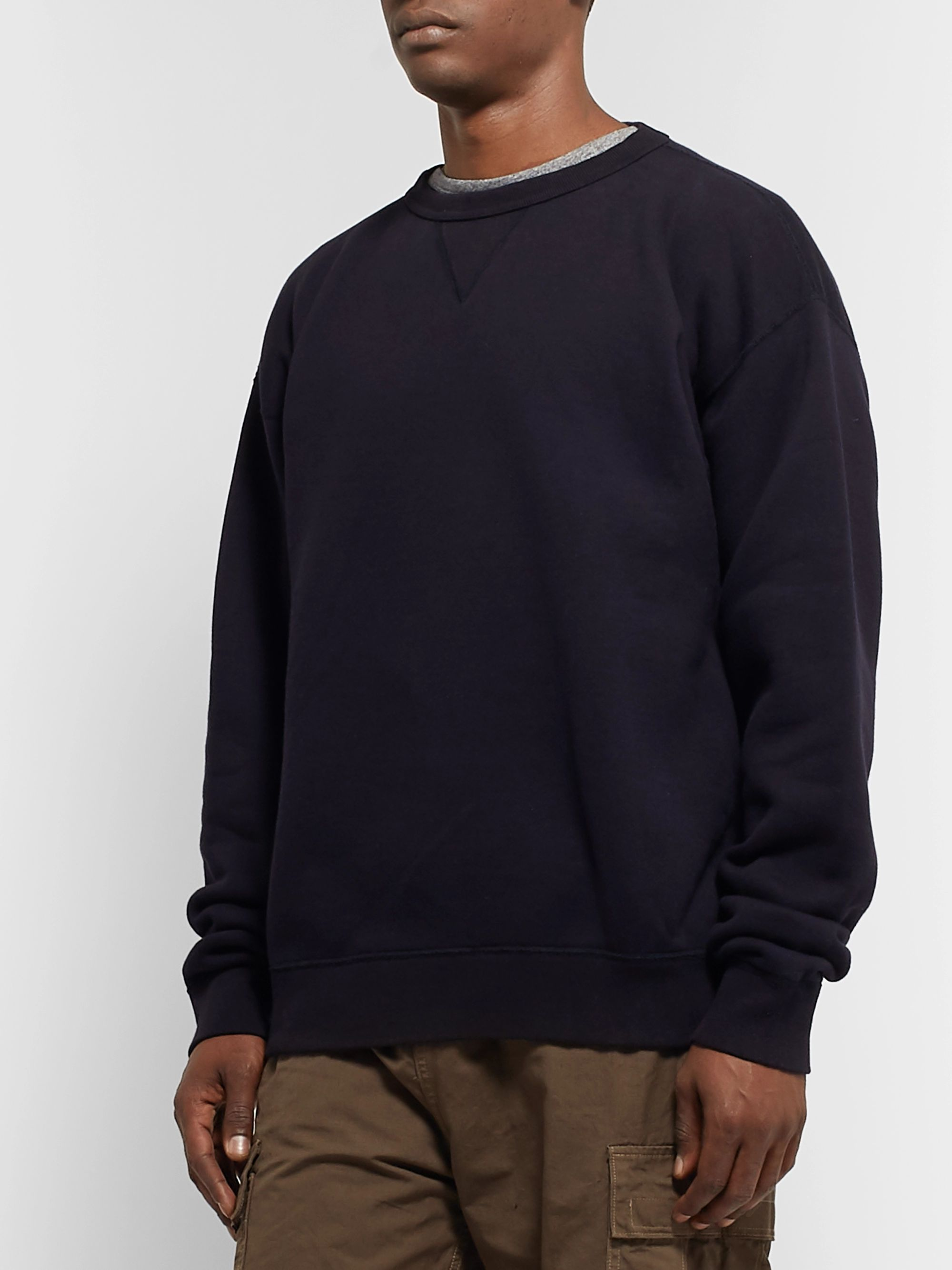 Chimala Fleece-Back Cotton-Jersey Sweatshirt
