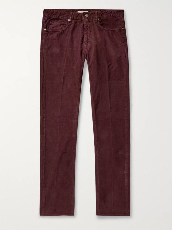 Incotex Slim-Fit Stretch Cotton-Corduroy Trousers